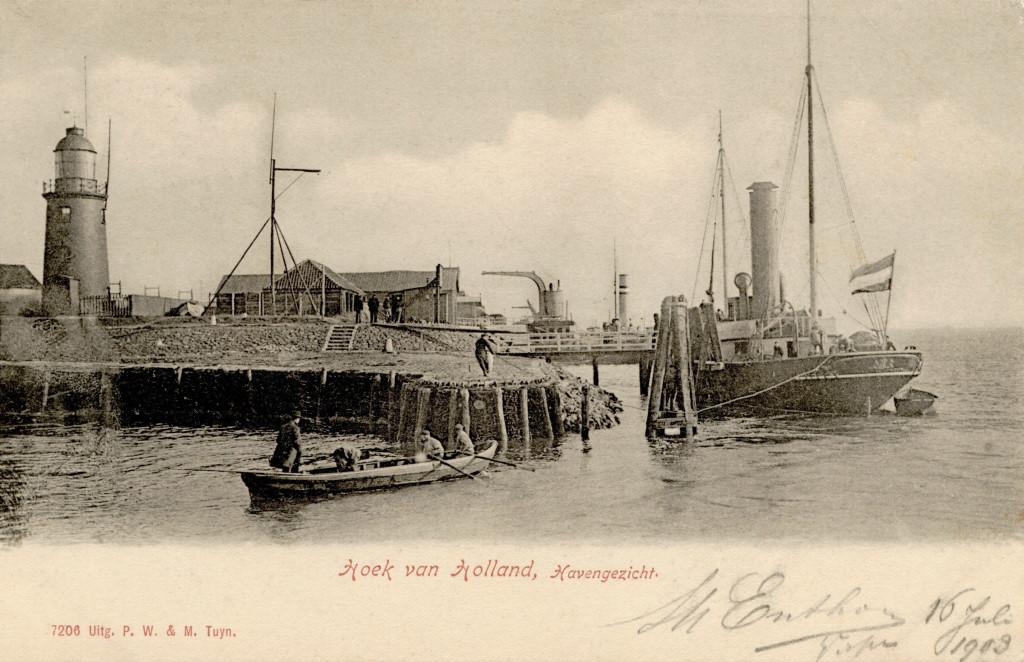 De Berghaven omstreeks 1904.