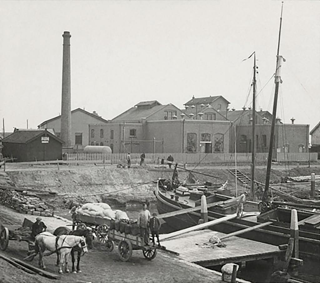 De Blaugasfabriek in de jaren '20.