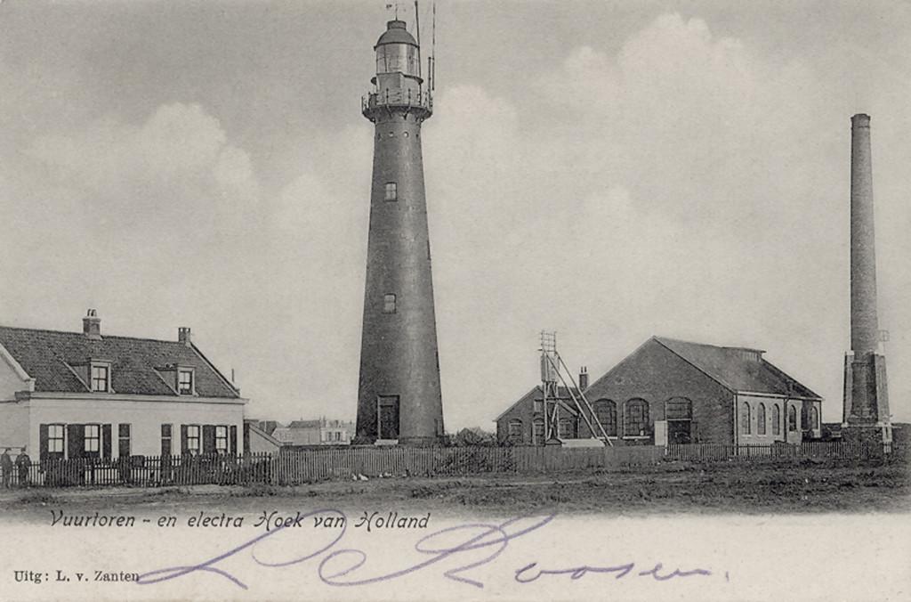 Het hoge licht omstreeks 1905 en de elektriciteitscentrale van de spoorwegen.