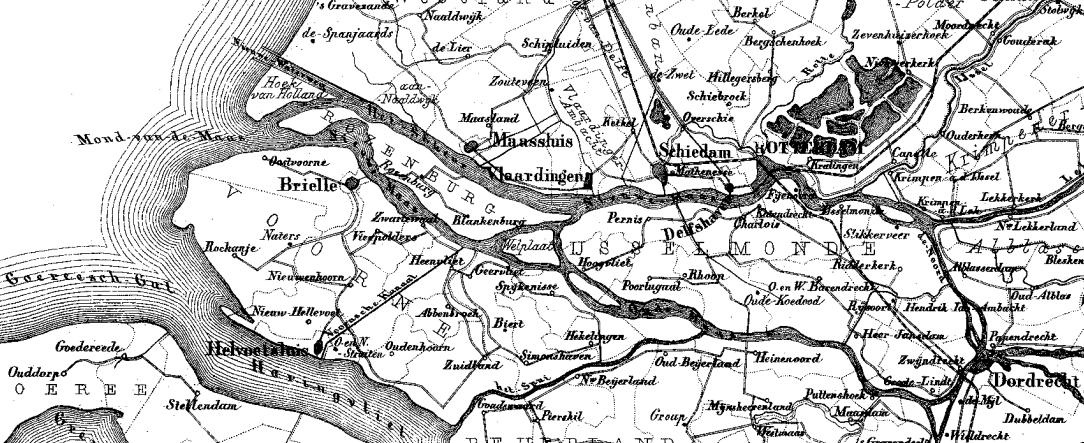 Maasmond 1865 - 1870, Gemeente-Atlas Kuyper.