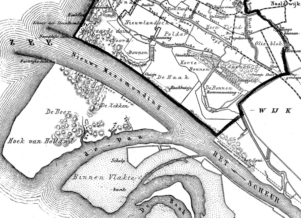 Maasmond 1866 - 1870, Gemeente-Atlas Kuyper.
