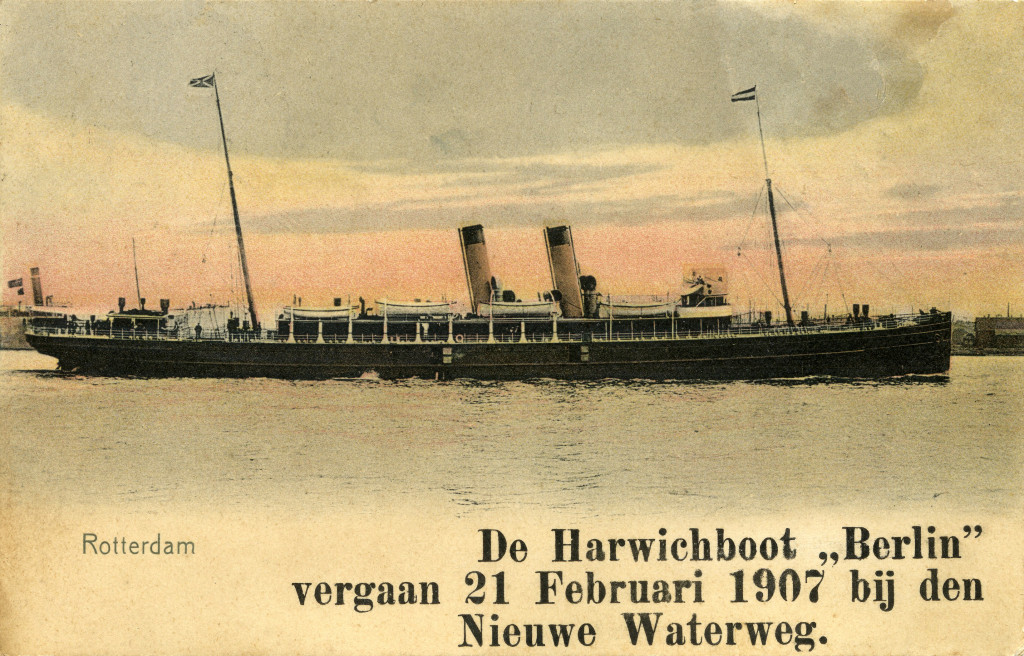 De Harwichtboot 'Berlin' nog in volle glorie.