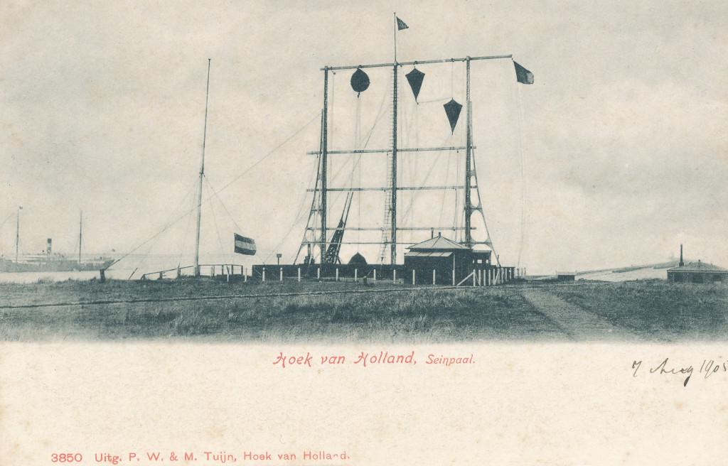 De semafoor omstreeks 1904.