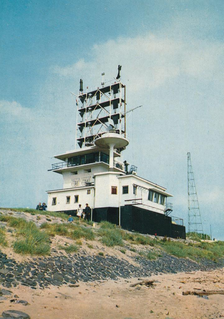 De semafoor in de jaren '70. In de jaren 1980-1981 is er een nieuwe semafoor gebouwd. De oude semafoor is in 1981 afgebroken.