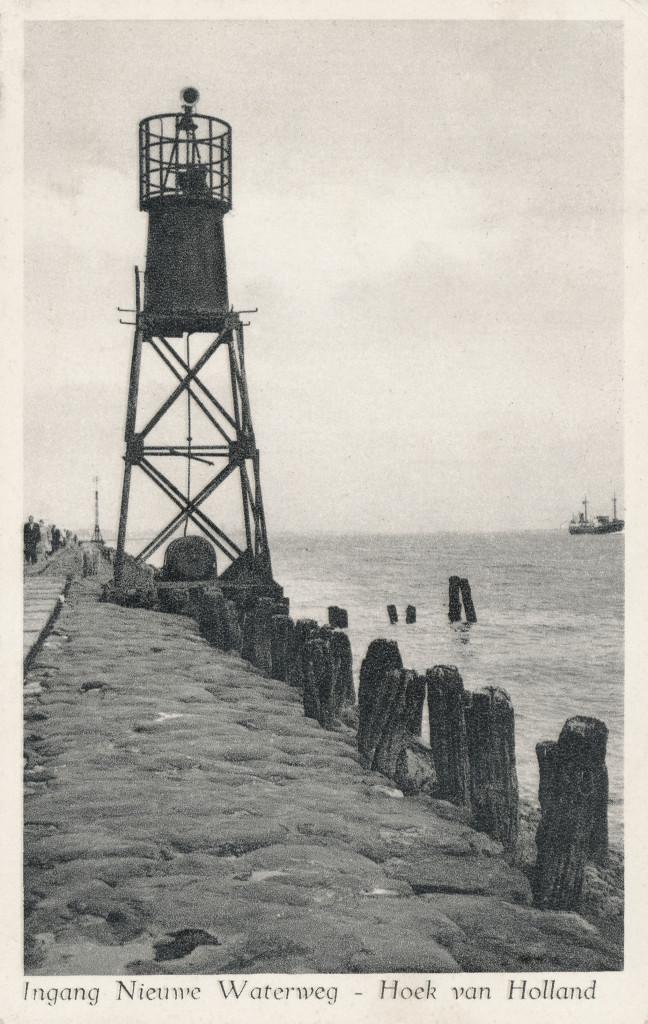 De Noorderpier omstreeks 1950 met misthoorn